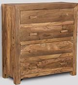Cuba Natural 4 Drawer Chest