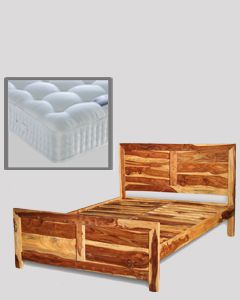 Cube Light Double Bed with Mattress