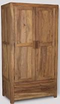 Cuba Natural Double Wardrobe