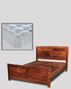 Cube Honey 6ft Bed (Super King Size) with Mattress