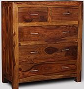 Cube Honey Large Chest of Drawers