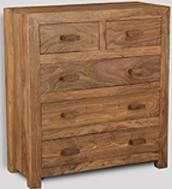 Cuba Natural Large Chest of Drawers