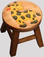 Reclaimed Teak Children's Stool  (Giraffe)