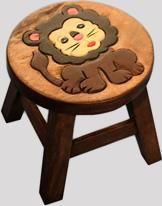 Reclaimed Teak Children's Stool (Lion)