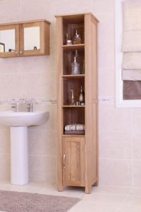 Mobel Oak Tall Open Bathroom Unit
