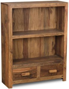 Cuba Natural 2 Drawer Bookcase