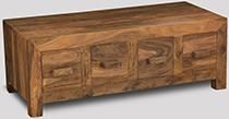 Cuba Natural 4 Drawer Coffee Table