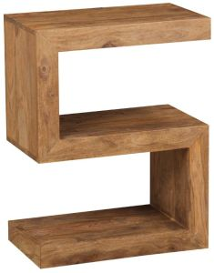 Cuba Natural S Shaped Side Table