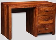 Cube Honey 3 Drawer Desk