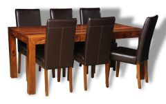 Large Cube Dining Table & 6 Barcelona Chairs