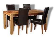 Cube Light Medium Table & 4 Barcelona Chairs