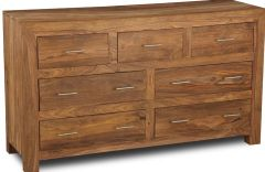 Cube Natural 7 Drawer Chest