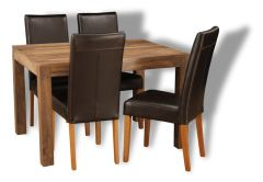 Cube Natural Medium Table & 4 Barcelona Chairs