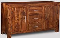 Cube Honey Large Sideboard