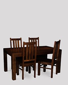 Mango 160cm Dining Table & 4 Chairs
