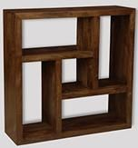 Mango Centered Square Bookcase
