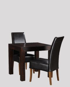 Mango 80cm Dining Table and 2 Madrid Chairs