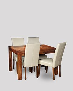 Small Cuba Dining Table and 4 Barcelona Chairs