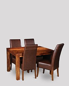 Small Cube Dining Table & 4 Madrid Chairs