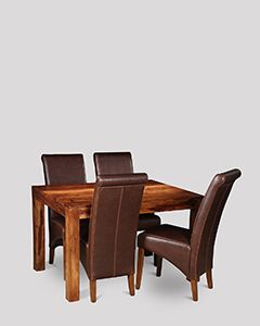 Small Cuba Dining Table and 4 Rollback Chairs