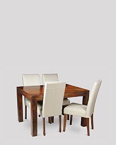 Dakota Dining Table & 4 Barcelona Chairs