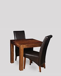 Small Dakota Dining Table & 2 Rollback Chairs