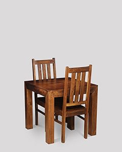 Small Dakota Dining Table & 2 Dakota Dining Chairs