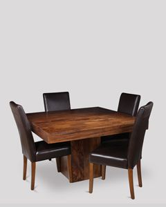 Dakota Cube Dining Table & 4 Barcelona Chairs