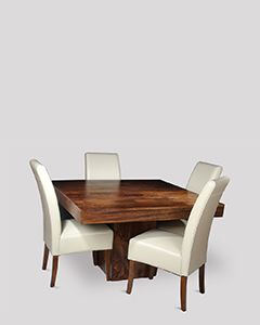 Dakota Cube Dining Table & 4 Madrid Dining Chairs