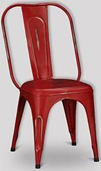 Industrial Iron Dining Chair (Red)