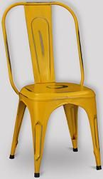 Industrial Iron Dining Chair (Yellow)