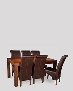 Dakota 160cm Dining Table & 6 Rollback Chairs