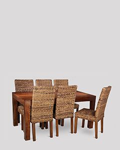 Dakota 160cm Dining Table & 6 Havana Chairs