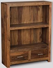 Cube Natural 2 Drawer Bookcase