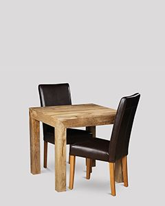 Light Dakota 80cm Dining Table & 2 Barcelona Chairs