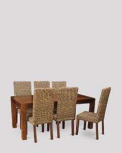 Dakota 180cm Dining Table & 6 Havana Chairs