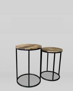 Industrial Side Table Tall