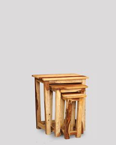 Jali Light Tall Nest of Tables