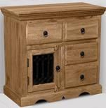 Natural Small Jali Sideboard