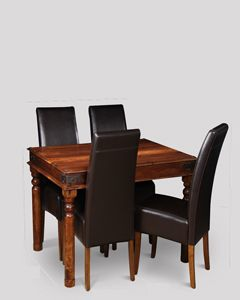 Small Jali Dining Table & 4 Madrid Chairs