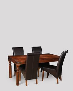 Jali Dining Table & 4 Rollback Chairs