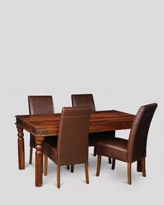 Jali Dining Table & 4 Madrid Chairs
