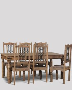 Large Jali Natural Dining Set