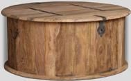 Jali Natural Round Trunk Coffee Table