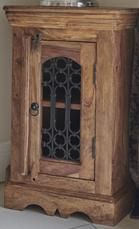 Small Jali Natural Cabinet