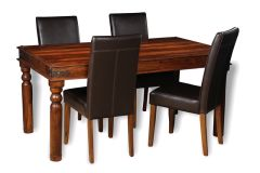 Jali 160cm Dining Table & 4 Barcelona Chairs