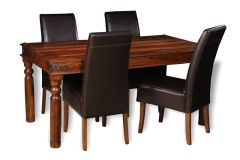 Jali 160cm Dining Table & 4 Madrid Chairs