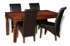 Jali 160cm Dining Table & 4 Rollback Chairs