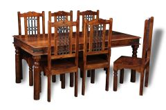 Jali 180cm Dining Table & 6 Jali Dining Chairs