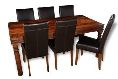 Jali 180cm Dining Table & 6 Barcelona Chairs